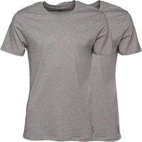 Levi's Mens Crew Neck Two Pack T-Shirt Middle Grey Melange