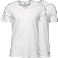 Levis Mens V-Neck Two Pack T-Shirt White