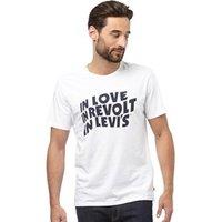 Levi's Mens Graphic T-Shirt Woodmark White