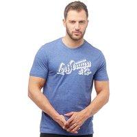 Levis Mens Wordmark Graphic T-Shirt Sharpie Sodalite Blue