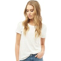 Levis Womens The Perfect Crew Low T-Shirt Corydalis Marshmallow