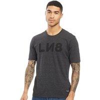 Levi's Line 8 Unisex LN8 Reverse Logo T-Shirt Jet Black/Black Grape