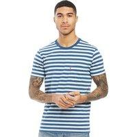 Levi's Mens Set In Sunset Pocket Short Sleeve T-Shirt Half Inch Cream Heather/Light Indigo