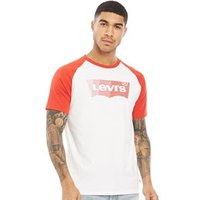 Levi's Mens Short Sleeve Baseball HM T-Shirt Retro White/Aura Orange