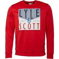 Lyle And Scott Fitness Mens Edwards Graphic Sweatshirt Pavilion Red