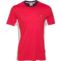 Lyle And Scott Fitness Mens Peters T-Shirt With Mesh Panels Pavilion Red/White