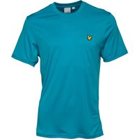 Lyle And Scott Fitness Mens Peters T-Shirt With Mesh Panels Cove Green