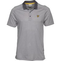Lyle And Scott Fitness Mens Stripe Polo Slate