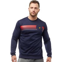 Lyle And Scott Fitness Mens Johnson Graphic Crew Sweat Navy