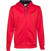Lyle And Scott Fitness Mens Hill Fleece Hooded Track Jacket Pavilion Red