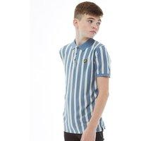 Lyle And Scott Junior Boys Deckchair Stripe Polo Mist Blue