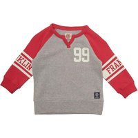 Franklin & Marshall Infant Girls Vented Side Sweat Light Grey Heather