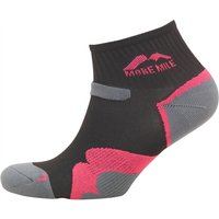 More Mile Womens Oregon Trail Cushioned Running Socks Black/Pink
