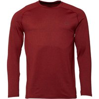 More Mile Mens Performance Long Sleeve Running Top Deep Red Marl