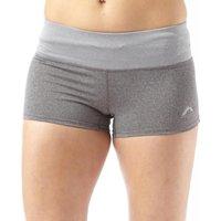More Mile Womens Deep Waistband Running Hot Shorts Dark Grey Marl