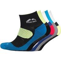More Mile Mens Five Pack London Cushioned Running Socks Various