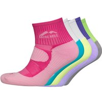 More Mile Womens Five Pack London Cushioned Running Socks Various