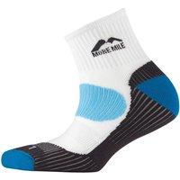 More Mile London Cushioned Running Socks Running White/Blue