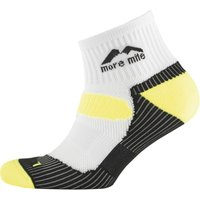 More Mile London Cushioned Running Socks White/Fluro