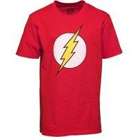 Distressed Flash Logo DC Boys T-Shirt Red