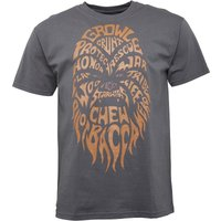 Star Wars Chewbacca Text Mens T-Shirt Charcoal