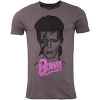 David Bowie Mens Bowie Aladdin T-Shirt Grey