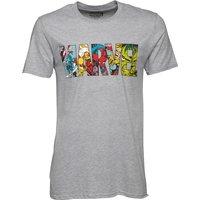 Marvel Comic Strip Mens Logo T-Shirt Grey Marl