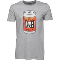 Simpsons Mens Beer Can T-Shirt Grey Marl