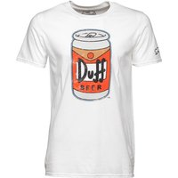 Simpsons Mens Beer Can T-Shirt White