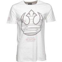 Star Wars Mens Rebel Ship Icon T-Shirt White