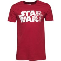 Star Wars Mens Rebel Text Logo T-Shirt Cardinal Red