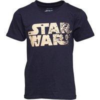 Star Wars Boys Rebel Text Logo T-Shirt Navy