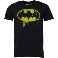 DC Mens Batman Dripping Logo T-Shirt Black