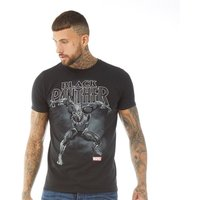 Marvel Mens Black Panther Strike T-Shirt Black