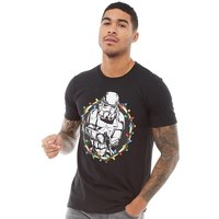 Star Wars Mens Festive Trooper T-Shirt Black