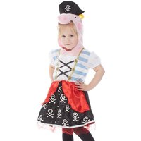 Peppa Pig Kids Pirate Fancy Dress Costume Multi