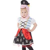 Peppa Pig Kids Pirate Fancy Dress Costume Multi