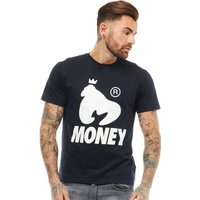 Money Mens Bloc Out T-Shirt Blue Navy