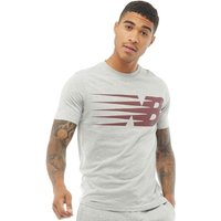 New Balance Mens Logo Graphic T Shirt Athletic Grey