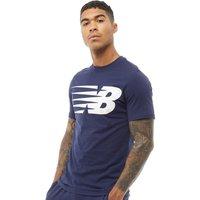 New Balance Mens Logo Graphic T-Shirt Navy