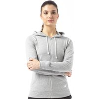 New Balance Womens Lightweight Full Zip Hoody Athletic Grey Marl
