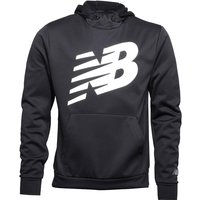 New Balance Mens Accelerate Graphic Tech Poly Fleece Hoody Black