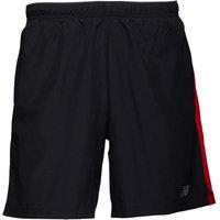 New Balance Mens7 Inch Running Shorts Black/Team Red