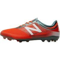 New Balance Mens Furon 2.0 Mid AG Football Boots Alpha Orange/Tornado/White