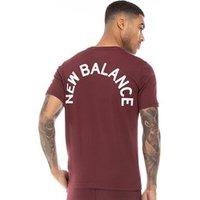 New Balance Mens Chest Logo Graphic T-Shirt Burgundy