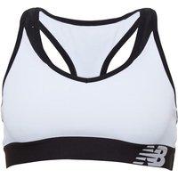New Balance Womens Pace Sports Bra Top White/Black