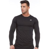 New Balance Mens Accelerate Long Sleeve Running Top Black