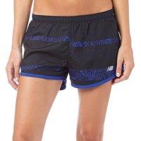New Balance Womens Printed 3 Running Shorts UV Blue