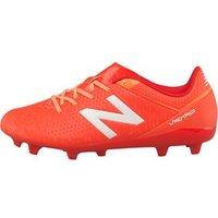 New Balance Junior Visaro Control FG Football Boots Lava/Fireball/Impulse/White