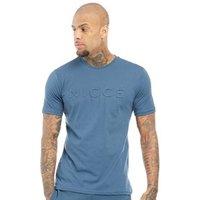 NICCE Mens Emboss T-Shirt Majorca Blue